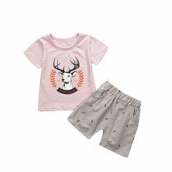 Bébé Garçon Fille Toddler T-shirt et une courte série de wapitis costume de vêtements en coton imprimé de l'été