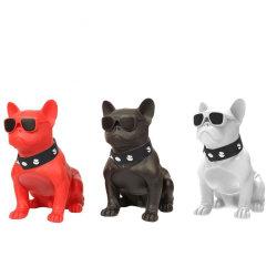 Chaud nouveau commerce de gros chien Bouledogue Bluetooth sans fil portable forme l'Orateur Chm10 avec logement de carte de TF Audio HD