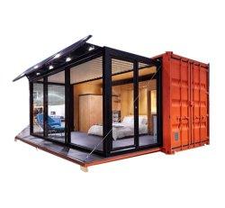 中国20/40FTの拡張可能プレハブモジュラー鉄骨構造のプレハブの移動式輸送箱の家