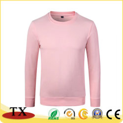 Gli sport Long-Sleeved di alta qualità portano intorno alla camicia di cotone di Autunno-Inverno del collo