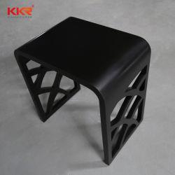 Black Matt China Style superfície sólida de banho poliban tamborete