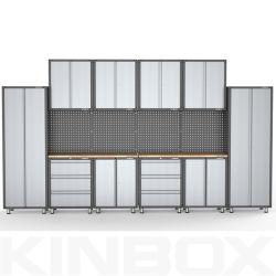 Kinboxシステム16部分のガレージ構成かツールの記憶システム