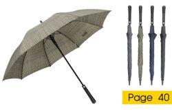 23''x8K long bâton Châssis en fibre de verre auto parapluie ouvert