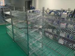 Multi niveau inclinés CMS en acier chromé Srencil Mesh rack pour l'entrepôt de stockage