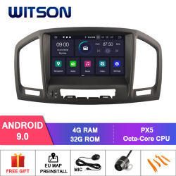 Huit Witson Core Android 9.0 voiture DVD pour Opel Insignia 2008-2011 Radio audio du véhicule