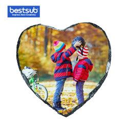Bestsub 10*15cm de ardósia fotográfica de sublimação da forma cardíaca (SBBH43)