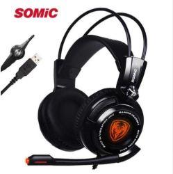 Somic G941 7.1 Surround Sound игры Гарнитура Разъем для наушников с вибрацией светодиодный индикатор для PC/PS4/xBox
