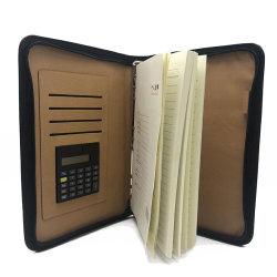 計算機が付いているA4ビジネス革ポートフォリオ文書ホールダー