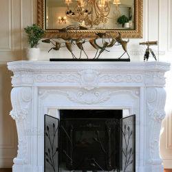 ホーム装飾(GSMF-221)のための大理石の暖炉を切り分ける石造り暖炉の環境