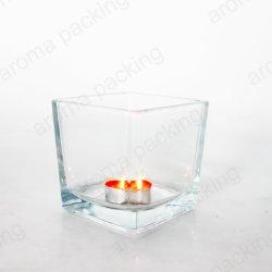 Новое в форме квадрата 20oz очистить Свеча со стеклянным кувшином для продажи