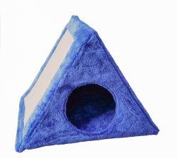 플러시 동굴 Cat과 키튼 하우스 침대 스크래치에 포스트