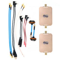 Sunhans Drone Leve Uav Repetidor sem fio 2000MW Tx e Rx Antena amplificador de sinal WiFi para Dispositivo 5.8G