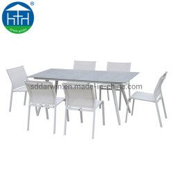 En el exterior de malla metálica de color Café Bistro//patio/jardín juegos de mesa y silla