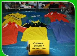 한국은 의류 남자 짧은 t-셔츠를 사용했다