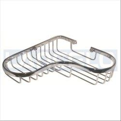 Esquina de metal de latón cromado Baño Cesta de alambre decorativo 5030