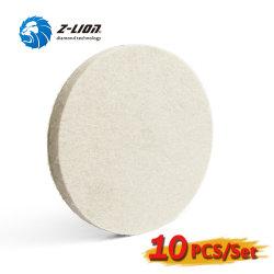 Zlion 10pcs 5 بوصة Wool عجلات تلميع السيارة الجميلة بلوس أداة تلميع القرص الكاشطة للسيارة/الزجاج/العمل بالخشب/الأثاث