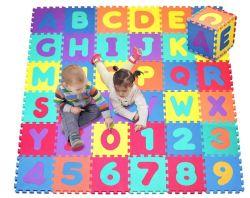 El alfabeto y números, el 9 de azulejos de mosaico (cada una de las medidas 12 X 12 pulgadas para una cobertura total de 9 pies cuadrados) Juego de Puzzle de espuma Mat