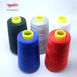 Commerce de gros fil à coudre Polyester 4000mètres 40S/2 Grande vitesse COPE LIGNE Thread de machine à coudre