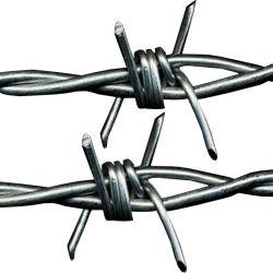 يجعل في الصين [200م] طول ضعف [سترند وير] عادية توتّريّ يغلفن فولاذ مزود بأشواك - سلك