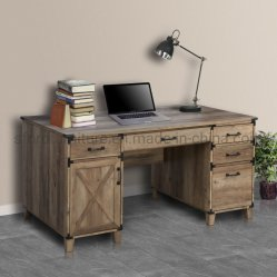 Innenministerium-Möbel-hölzerner rustikaler Eichen-Farben-Untersatz-Schreibtisch
