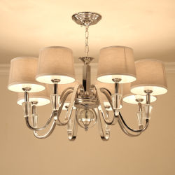 Lampshade Metal Material (WH-MI-56)の水晶およびMetal Orb Chandelier