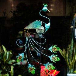 Для использования вне помещений декоративные металлические переливчатый декор ставки сад солнечной светодиодные индикаторы для сада открытый канал