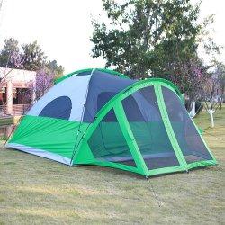 Usine doubles couches imperméables de gros de la famille de 5 à 6 personne tente de camping