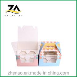 Papel de impresión de alta calidad caja de regalo Torta de la Copa Caja de papel de embalaje