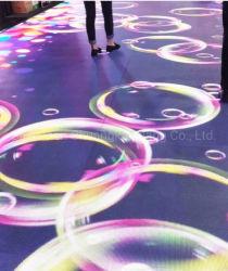 شاشة تفاعلية خارجية ذات جودة عالية كاملة بالألوان، مقاس P7.81 مم، أرضية/LED للفيديو حلبة الرقص