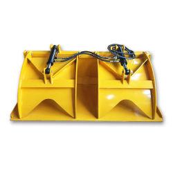 3 тонны мини-погрузчик с бортовым поворотом ковш с захватом для продажи