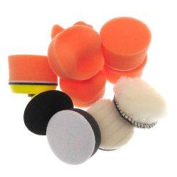 2 pulgadas de 9 piezas de espuma de taladrar la Almohadilla de esponja de pulido Kit para coche cuidado detalle