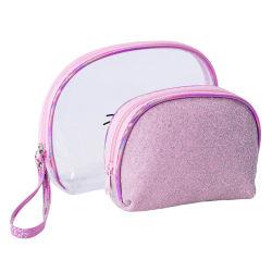 بلورات [رهينستون] لون قرنفل [سقوين] تلألؤ نساء مستحضرات تجميل بنية مستحضر تجميل حقيبة