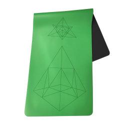 منشفة ليزر من المطاط الطبيعي PU Yoga ذات منشفة ليزر ذات تسوية بالليزر بطول 5 مم 1830*680 مم سجادات اليوغا
