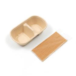 100% Umweltfreundliche Take Away Box Kompostierbare Papierpulpe Geschirr Biologisch Abbaubares Bagasse Geschirr