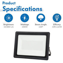 Proiettore LED da 200 W con certificazione CE, SAA, DLC UL, lampada alogena equivalente a 100 lm/W 1500 W, luce di sicurezza LED per esterni IP65 per affissioni e garage