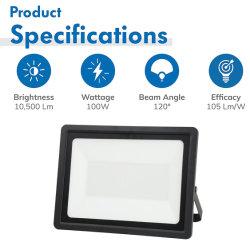 Holofote LED de 200W com marcação, AEA, Dlc Certificado UL, 20000LM 1500W equivalente, AC85-265V 5000K Horário, luminária de Luz do Holofote LED comercial
