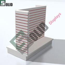 رفّ الرف الخاص بشاشة عرض الحائط من طراز MDF الجندول متجر حامل الشاشة الجندول حامل الشاشة 4 تركيبات على الجانبين