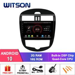 Percorso GPS dell'automobile DVD del Android 10 di Witson per Nissan Tiida 2011-2015 (versione automatica del condizionatore d'aria)
