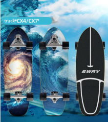 Banheira de venda de skate Surf Skate Surf esculpir Board com Cx4 Caminhão de alumínio 7 ply Maple Skate Board bombeando Sport Street