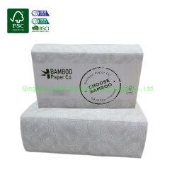 1 слоя 2 слоя Z-N-Fold экологически чистые полотенца мякоти из бамбука
