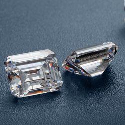 Gemstone soltas sintético Emerald 1 quilates Corte Esmeralda Moissanite Preço do Fabricante