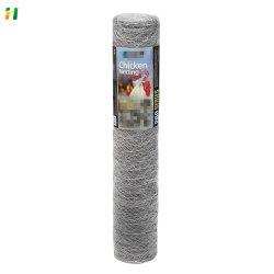 Rede de malha de arame de ferro hexagonal galvanizada