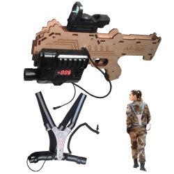 pistola della modifica del laser di 600FT con gioco esterno/dell'interno, professionale riflettente della maglia della cinghia, di battaglia, materiale di legno, pistola completamente Editable