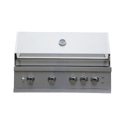 مطبخ خارجي مدمج من دون سلسلة من الشوي 304 4 Burner مشواة بالغاز