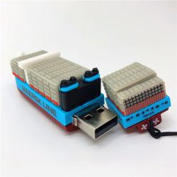 カスタマイズされた涼しいモデル貯蔵容器の船USB 16g 32g 64GフラッシュUSB