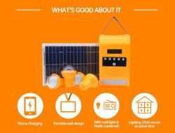 نظام الإضاءة المنزلية بالطاقة الشمسية المحمولة الطاقة الشمسية للكمبيوتر المحمول نظام الطاقة 8 واط