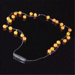 Das LED-Kürbis-Form-Blinken leuchten Halskette für Halloween