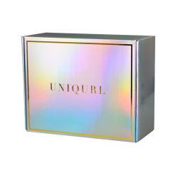 Design personalizado cor holográfico a impressão de Embalagens de Papelão Ondulado Cabelo Caixa Caixa de papel caixa de sapatos
