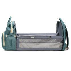 Fabricant de gros personnalisés Daypack en Nylon de grande capacité d'épaule double sac à dos tour de lit bébé Maman Bag