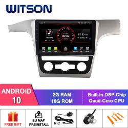 """Witson 10.2 """"フォルクスワーゲンPassat 2013年のための大きいスクリーンのアンドロイド10車DVD"""